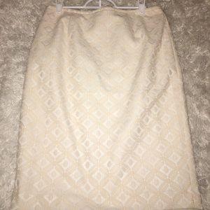 Size 6 Calvin Klein Blush Skirt
